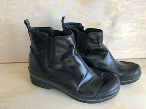 Dansko Vail Coated Rain Boots Black  Fabric- Women's Sz 9
