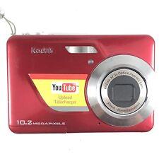 Kodak EasyShare C180 10.2MP Digital Camera Red 041 Upload YouTube Video Audio