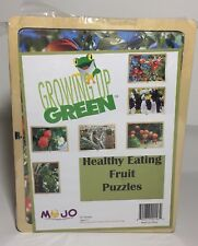 MOJO Growing Up Green Healthy Eating Fruit Six 9 Piece Wooden Puzzles New School