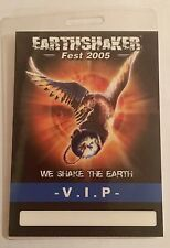 EARTHSHAKER Fest 2005 Tedesco Festival metal vintage Pass VIP