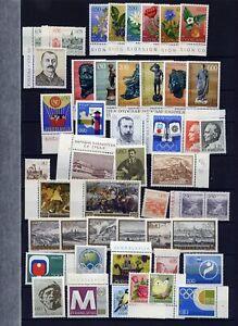 Jugoslawien 1971 - 1975  kleines Lot postfrisch meist kpl. Ausgaben
