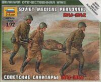 Zvezda #6152 1/72 Scale Unpainted Figure - Soviet Medical Personnel 1941-42