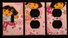 DORA THE EXPLORER LIGHT SWITCH COVER AND OUTLET PLATES ADORABLE! -FREE SHIPPING