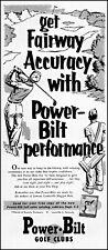 1952 Golfers Power-Bilt golf clubs fairway driver vintage art print ad adl81