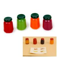 S6Y3 4 bottles of food flavor mix fruit jam Food Store 1/12 Miniature doll house