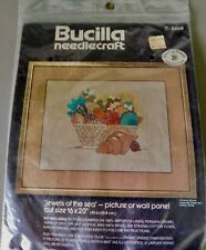 Vintage Bucilla Needlecraft Kit Jewels of the sea #3468 Picture/Wall Panel 16x20