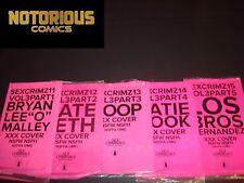 Sex Criminals 11 12 13 14 15 Complete XXX Variant Comic Lot Run Set Fraction
