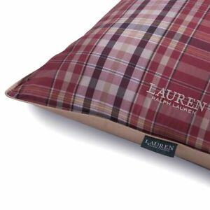 Lauren Ralph Lauren Home Grafton Plaid print Bed Pillow Red tan Queen Standard