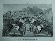 1845 Zuccagni-Orlandini Santuario di Nostra Signora d'Oropa Provincia di Biella