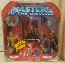 MOTU 2002 Masters of the Universe Wolf Armor He-man Snake Armor Skeletor NEW VHS