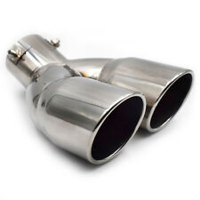 Chrome Stainless Steel Car Rear Dual Exhaust Pipe Tail Muffler Tip Sophisticated