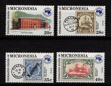MICRONESIA, SCOTT # 21 & C4-C6, SET OF 4 AUSIPEX & TRUK POST OFFICE, OLD STAMPS