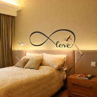 Love Art Vinyl Wall Stickers Home Bedroom Removable Quote Decal Mural Decor PVC