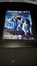 Radiohead High & Dry Rare Original Radio Promo Poster Ad Framed! #2