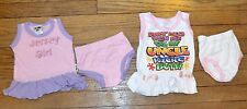Lot of 2 Baby Girl Dresses Size 6 to 12 Months Jersey Girl & Don't Mess with ME