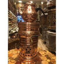 100%HANDMADE Handcrafed Copper Turkish Samovar Authentic  gift ideas tea kettle