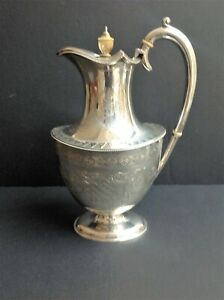 ANTIQUE VICTORIAN STERLING SILVER ENGLISH COFFEE POT - 1900