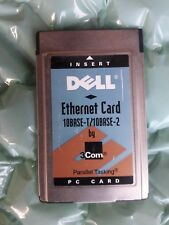 DELL PCMCIA Ethernet Card 10Base-T/10Base-2 PC Card 3COM 16-0088-000 Rev:C
