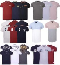 New Mens Crosshatch Polo T Shirt Pique Polo Cotton Collared 6 Styles S-XXL