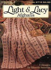 Light & Lacy Afghans - Leisure Arts Crochet Pattern Leaflet 2715
