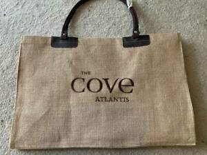 NEW! Large Tote/Beach/Overnight/Travel Beige Bag from The Coves Atlantis Bahamas