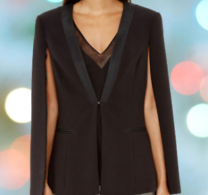 TED BAKER~Black Cape~Smart Occasion Jacket~ Size1 UK8