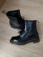 Dr Martens WOMEN'S BLACK PATENT BOOTS SIZE UK 4 EXCELLENT CONDITION
