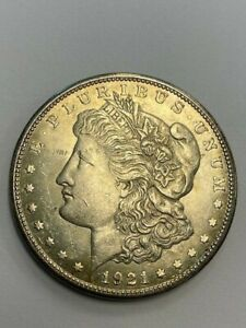 1921-S Morgan Silver Dollar, Unc Nicely Toned, Mirrored Reverse
