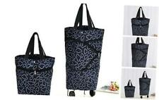 Collapsible Trolley Bags Folding Shopping Bag with Wheels Foldable Shopping Car