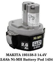 NEW MAKITA 193158-3 14.4V 2.6Ah Ni-MH Battery Pod 1434