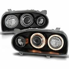 2 PHARES ANGEL EYES VW GOLF 3 BERLINE BREAK 8/1991-5/1999 NOIR LED CRISTAL