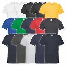 3er 5er oder 10er Pack Fruit of the Loom Valueweight V-Neck T Herren Basic Shirt