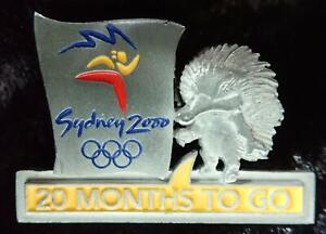 Ltd. Ed #502 SYDNEY 2000 OLYMPIC GAMES 20 MONTHS TO GO COUNTDOWN PEWTER PIN