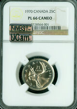 1970 CANADA 25 CENTS NGC PL66 CAMEO MAC FINEST MAC SPOTLESS .