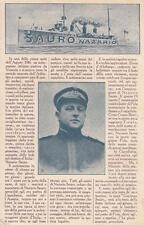 A6721) WW1 MARINA, NAZARIO SAURO E RACCONTO DELL'EVENTO.