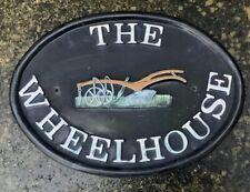 THE WHEELHOUSE METAL HOUSE SIGN ~ SHABBY CHIC