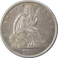 1858 O 50c Seated Liberty Silver Half Dollar Coin XF EF Extremely Fine
