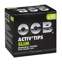 OCB Activ Tips Slim Aktivkohlefilter 7mm 50er Filtertips - Joint Tips -