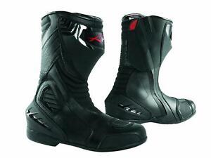 Paddock Motorcycle Motobike Sport Boots Track performance Sonicmoto Black 43