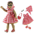 5 PCS Set Doll Clothes Dress Fit for 18 inch American Girl Doll Outfit a01