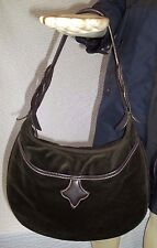 Longchamp Dark Olive Green Velvet Hobo Handbag