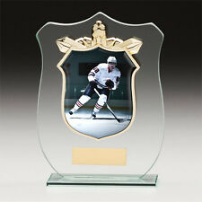 Ice Hockey TITAN Glass Trophy Award 180mm Engraving (cr15120d) TRD