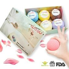 Bath Bombs Gift Set,6 Large Organic Spa Fizzies Kit, Usa design Gifts
