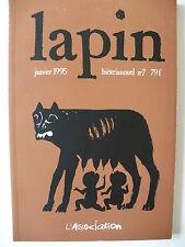 EO 1995 (très bel état) - Revue Lapin 07 - Association - Blutch - Trondheim