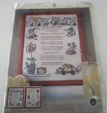 Vintage Paragon Comical CITY LIVING HOUSE GUEST RULES SAMPLER embroidery kit