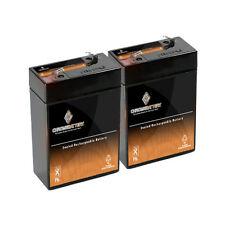 6V 4.5AH SLA Battery replaces cp0660 gp645 lcr6v4p hk-3fm4.5 - 2PK