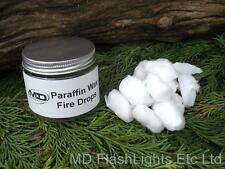 PARAFFIN WAX FIRE DROPS FIRE STARTER TINDER IDEAL FOR BUSHCRAFT SURVIVAL KITS