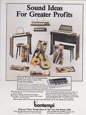Vintage BONTEMPI MUSICAL INSTRUMENTS  ad sheet #0101