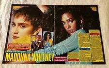 Whitney Houston VS Madonna 1980s Clippings Posters Swedish Okej Vintage Rare