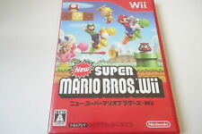 Wii New SUPER MARIO BROS RVN-SMNJ-JPN-1 Nintendo Game Soft Action